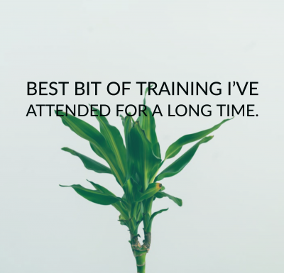 quote: best bit of training I've attended for a long time