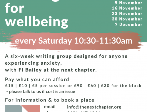 New writing for wellbeing group
