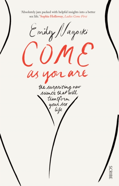 line drawing of outline of cis woman's body, text on pubic area reads: the surprising new science that will transform your sex life