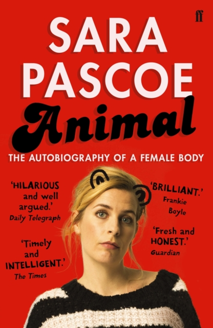 Jacket for Animal - features Sara Pascoe with animal ears drawn on her head