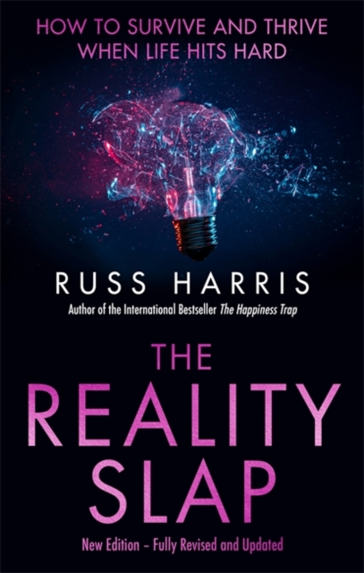The Reality Slap book jacket, which depicts a lightbulb shattering