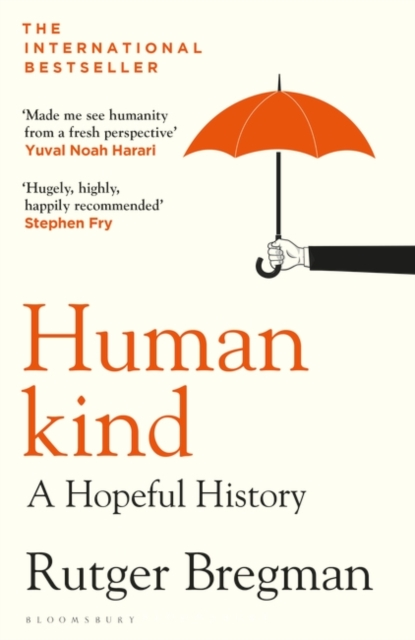 jacket for Humankind - image of an arm extending a sheltering umbrella over the word 'human'