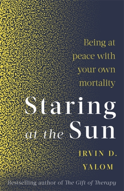 jacket for Staring at the Sun - features a mass of yellow dots gradually dispersing across the page into a dark blue space
