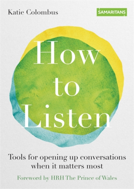 jacket for How to Listen - features a yellow and a blue circle overlapping to make green