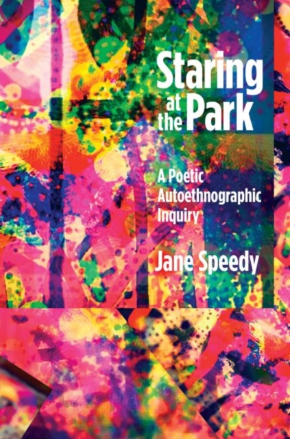 jacket for Staring at the Park features layers of fragmented shapes and bright colours that could be many forms