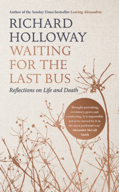 jacket for Waiting for the Last Bus - features silhouettes of flower stalks with petals and seeds blown