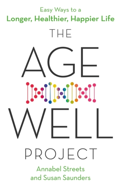 jacket for The Age Well Project - features a rainbow-coloured image of a DNA spiral