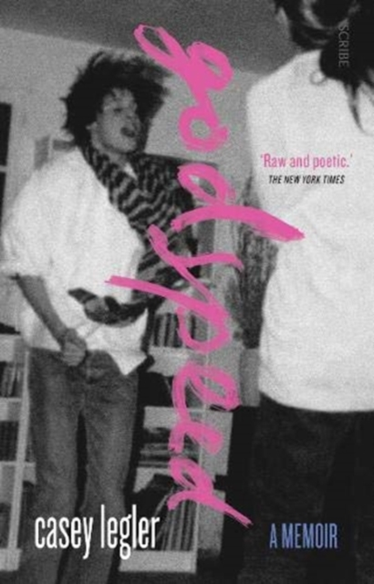 jacket for Godspeed, features a blurred photograph of a young person perhaps at a house party, jumping up maybe to music