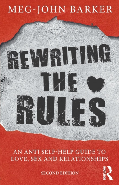 jacket for Rewriting the Rules, features graffito-style writing on a concrete wall, where the red paintwork has been knocked away